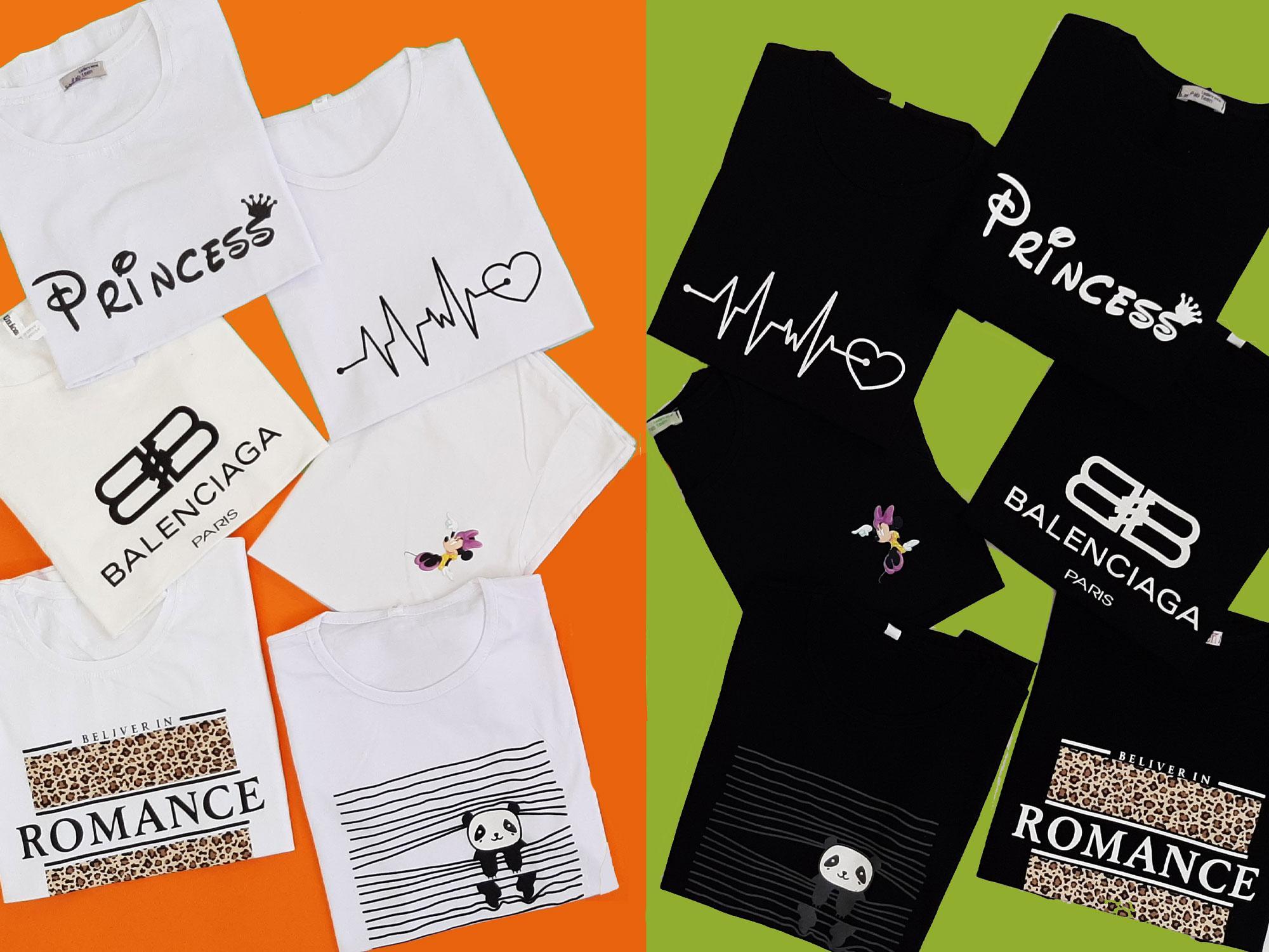 تیشرت های سیاه و سفید